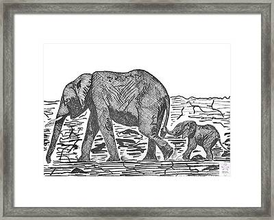 Going For A Walk Framed Print by Jessica Coulter