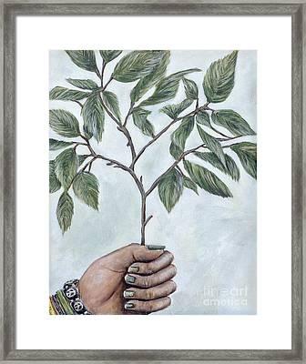 Going Green Eva Marie Fitzsimmons Framed Print by Sheldon Kralstein