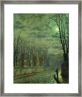 Going Home By Moonlight Framed Print by John Atkinson Grimshaw