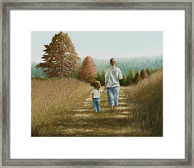 Going Home Framed Print by Mary Ann King