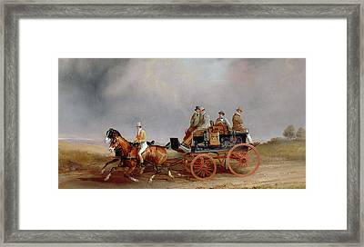 Going Shooting A Postillion And Pair With A Game Cart Framed Print by Charles Cooper Henderson