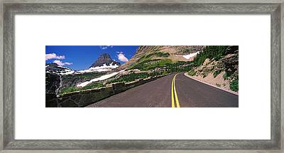 Going-to-the-sun Road At Us Glacier Framed Print by Panoramic Images