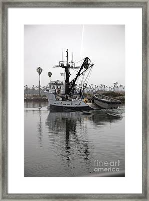 Going To Work Framed Print by Amanda Barcon