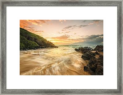 Gold And Blue Framed Print by Hawaii  Fine Art Photography