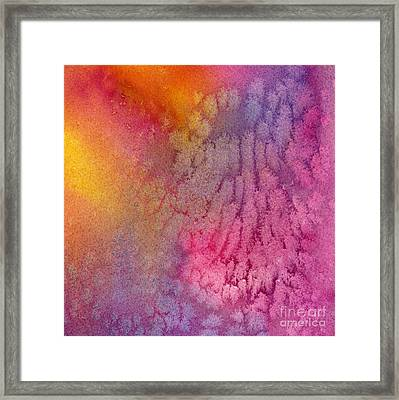 Gold And Magenta Abstract  Framed Print by Sharon Freeman
