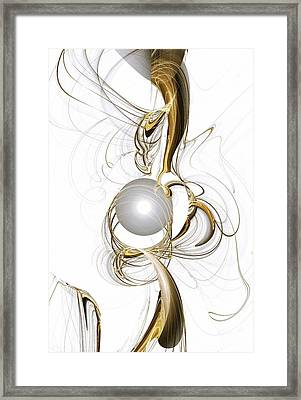 Gold And Pearl Framed Print by Anastasiya Malakhova