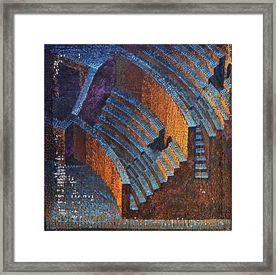 Gold Auditorium Framed Print by Mark Howard Jones