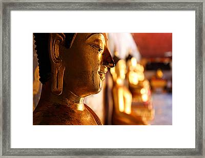 Gold Buddha At Wat Phrathat Doi Suthep Framed Print by Metro DC Photography