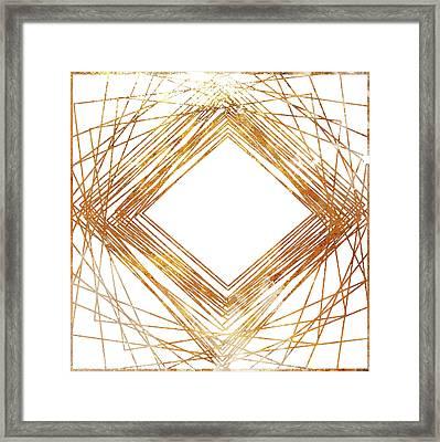 Gold Diamond Framed Print by South Social Studio