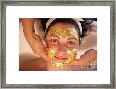 Gold Face Framed Print by Graham Foulkes