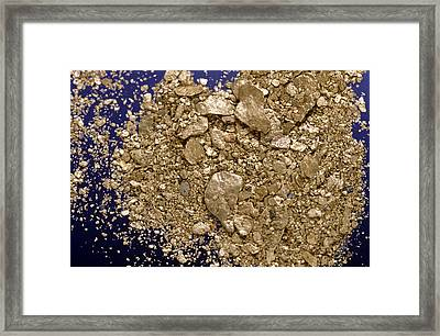 Gold Flakes & Dust Framed Print by Charles D. Winters