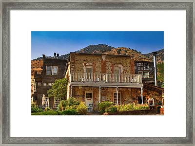 Gold Hill Hotel And Saloon Framed Print by Donna Kennedy