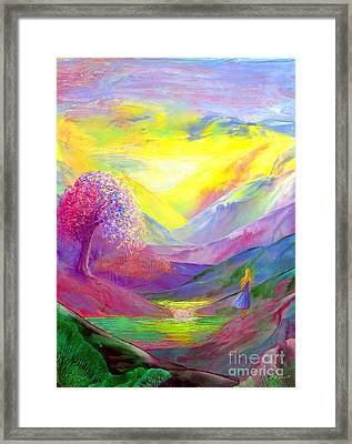 Gold Horizons Framed Print by Jane Small