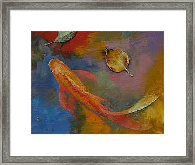 Gold Leaf Framed Print by Michael Creese