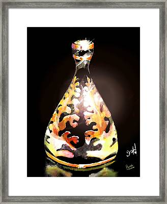 Gold Framed Print by Marcello Cicchini