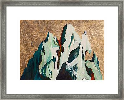 Gold Mountain Framed Print by Joseph Demaree