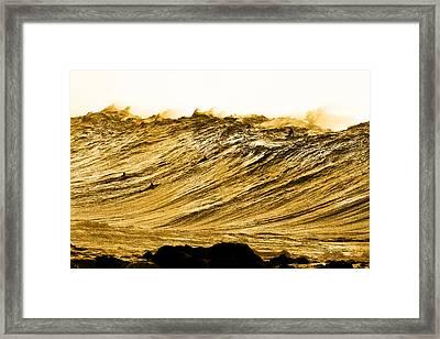 Gold Nugget Framed Print by Sean Davey