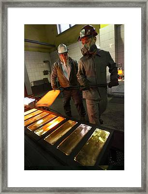 Gold Refinery Framed Print by Science Photo Library