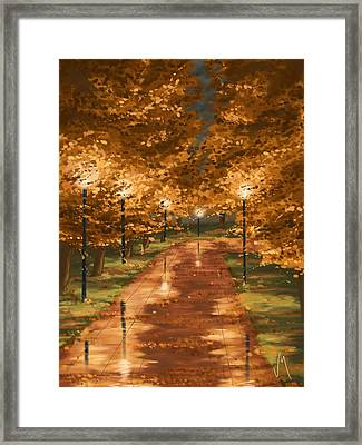Gold Reflections Framed Print by Veronica Minozzi