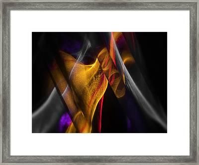 Gold Ribbon Framed Print by Dennis James