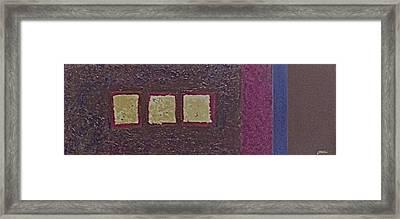 Gold Squares Framed Print by Jim Ellis
