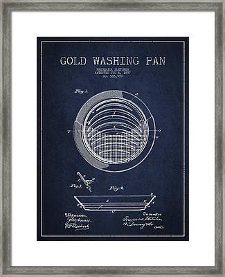 Gold Washing Pan Patent Drawing From 1897 Framed Print by Aged Pixel