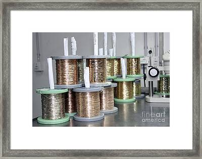 Gold Wires For Jewelry Manufacture Framed Print by RIA Novosti