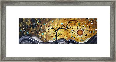 Golden Admiration By Madart Framed Print by Megan Duncanson