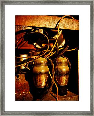 Golden Age Of Wireless Framed Print by Richard Reeve
