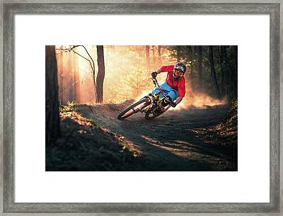 Golden Bermed Corner Framed Print by Sandi Bertoncelj