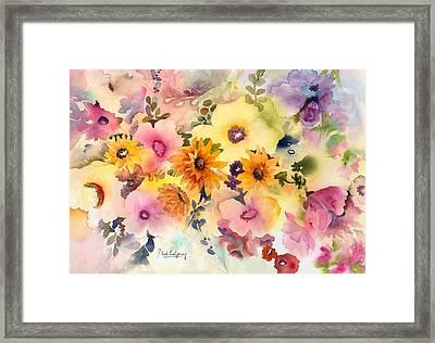 Golden Blossoms Framed Print by Neela Pushparaj