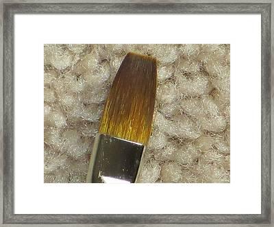 Golden Brush Framed Print by Sonali Gangane