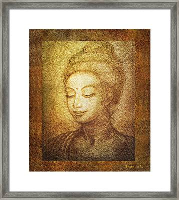 Golden Buddha Framed Print by Ananda Vdovic