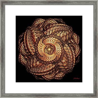Golden Celtic Mandala Framed Print by Michael Durst