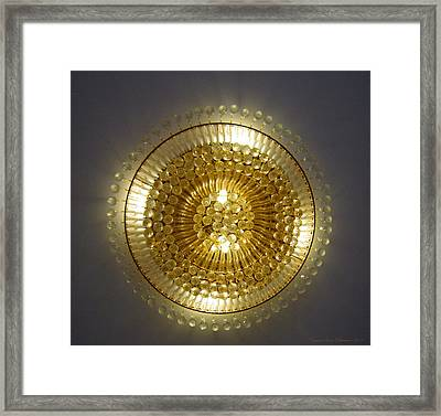Golden Circle Framed Print by Leena Pekkalainen