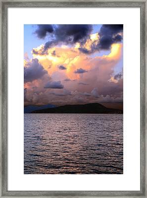Golden Clouds Framed Print by    Michael Glenn