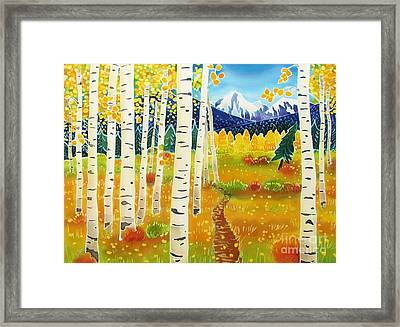 Golden Colorado Day Framed Print by Harriet Peck Taylor