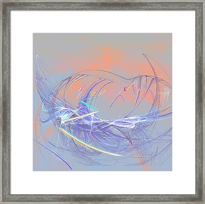 Golden Day Skiers Framed Print by Angela A Stanton