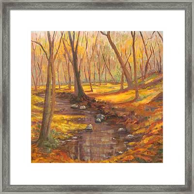 Golden Days Fall Landscape Framed Print by Robie Benve