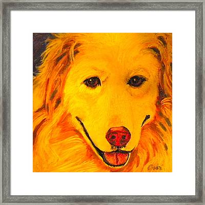 Golden Framed Print by Debi Starr