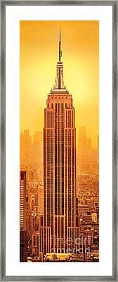 Golden Empire State Framed Print by Az Jackson