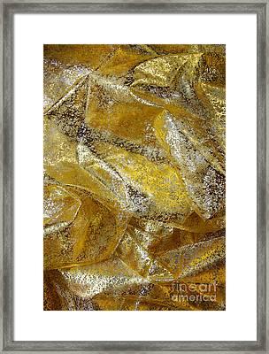 Golden Fabric Framed Print by Carlos Caetano