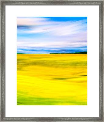 Golden Fields Of England - My Canterbury Tale Framed Print by Mark E Tisdale
