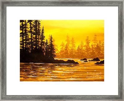 Golden  Flow  Framed Print by Shasta Eone