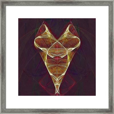 Golden Fractal Framed Print by Gina Lee Manley
