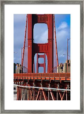 Golden Gate Bridge Framed Print by Adam Romanowicz