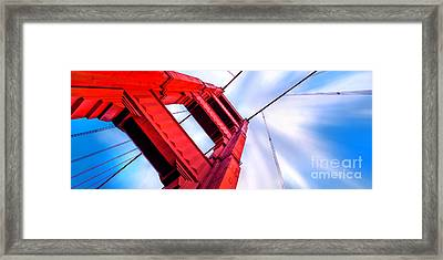 Golden Gate Boom Framed Print by Az Jackson