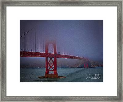 Golden Gate Bridge  ... Framed Print by Chuck Caramella
