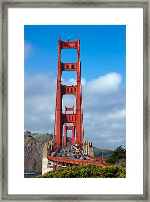 Golden Gate Bridge Framed Print by Adam Romanowicz