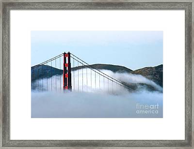 Golden Gate Bridge Clouds Framed Print by Tap On Photo